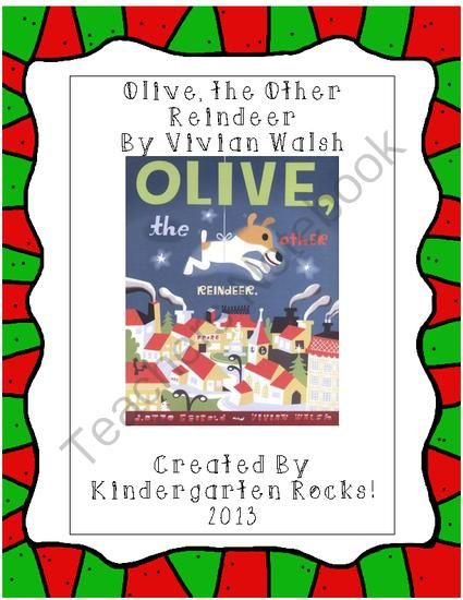FREE Close Reading Lesson for Olive the Other Reindeer from Kindergarten Rocks! on TeachersNotebook.com (5 pages)  - Merry Christmas!  Here is a close reading freebie!