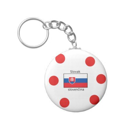 Slovak Language And Slovakia Flag Design Keychain - accessories accessory gift idea stylish unique custom