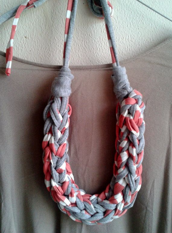 extra chunky crocheted necklace in grey and by MerakibyStevie, €22.00