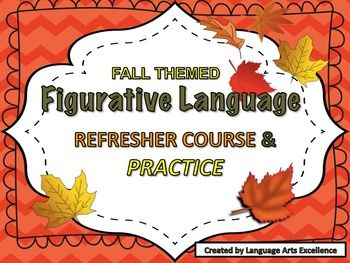 Celebrate fall in your ELA class with this beautifully-made powerpoint presentation covering figurative language devices, sensory details, and allusion in a fun, fall-themed format! Powerpoint Presentation Includes:- Review of the difference between figurative and literal language- Definition of each type of figurative language device, sensory details, and allusion with fun pictures and examples- 20 slides of practice- Answer KeyThis powerpoint presentation takes about 30 minutes to teach…