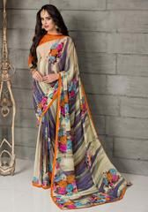 Multi Color Georgette Party Wear Sarees :  Anupama Collection  YF-42850