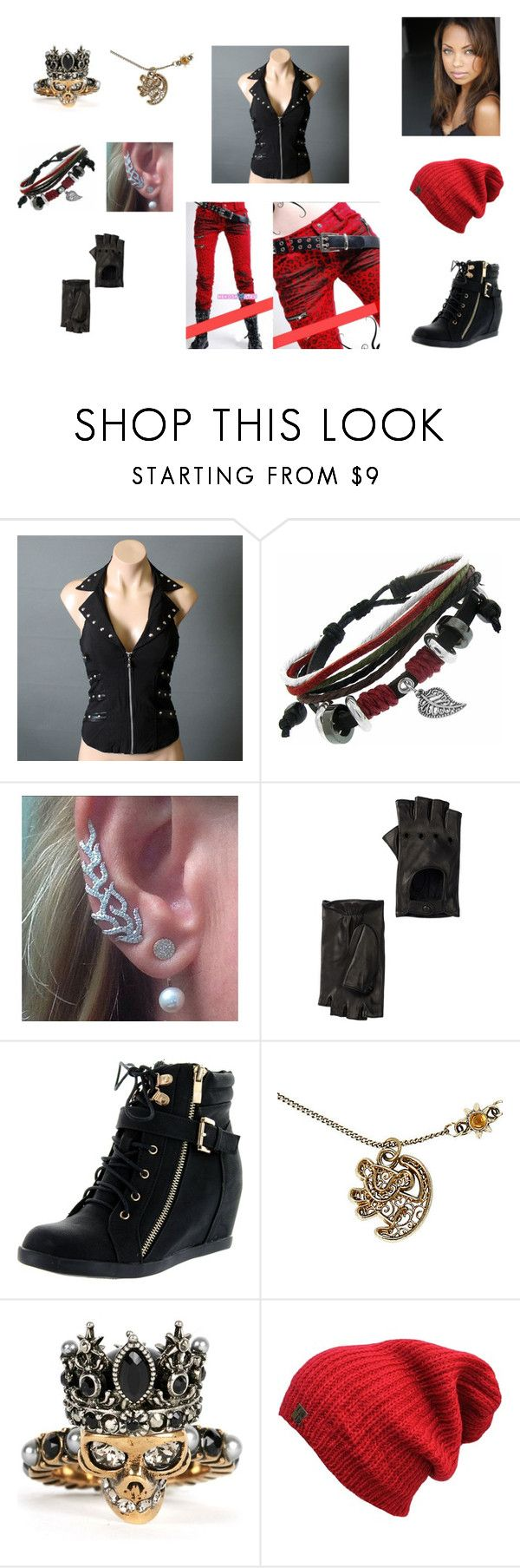 """Untitled #164"" by dhat-unique-chiqq ❤ liked on Polyvore featuring Gioelli, Portolano, Top Moda, Disney and Alexander McQueen"