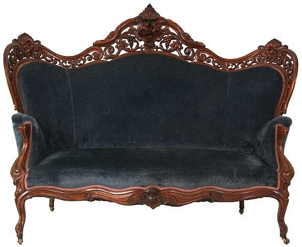 Buy Online, View Images And See Past Prices For Meeks Laminated Rosewood  Hawkins Sofa.