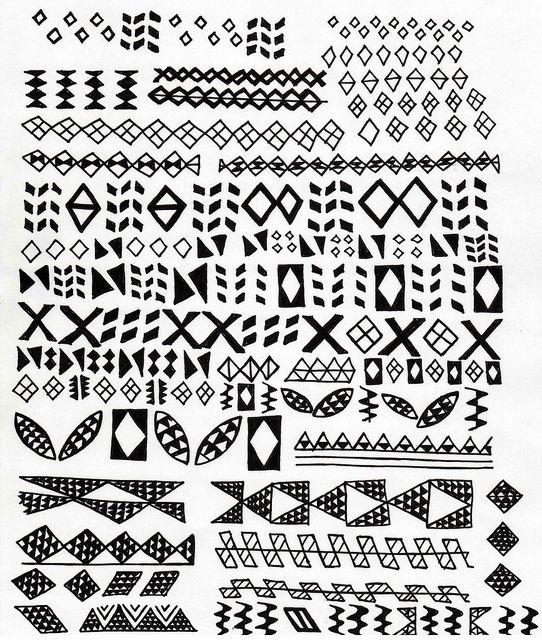 Traditional Hawaiian Designs by stitchlily, via Flickr