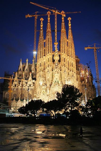 Barcelona, España La sagrada familia