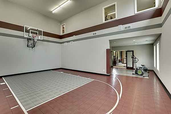 Plan 73356hs big daddy sport court house plan bar games for Basketball court plan