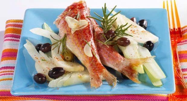 Rougets à l'ail et aux olivesVoir la recette des Rougets à l'ail et aux olives…
