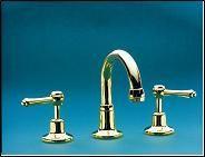 Bathroom Basin Tap Set  Fixed Gooseneck Outlet - Roulette Lever