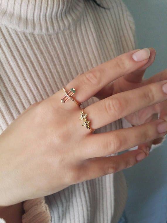 Yellow diamond cluster ring14K Yellow goldUnique engagement