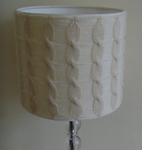 Cream Lampshade Cream Lampshade in Cable Knit by ArticleApparel, $65.00