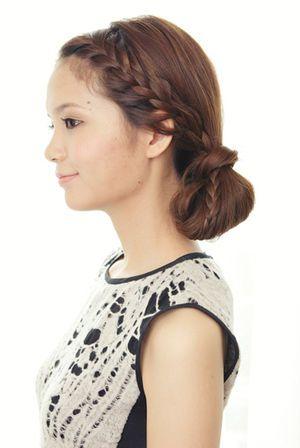 編み込み&お団子の大人のカジュアルヘア♡冬の両家顔合わせ・結納におすすめの髪型♪