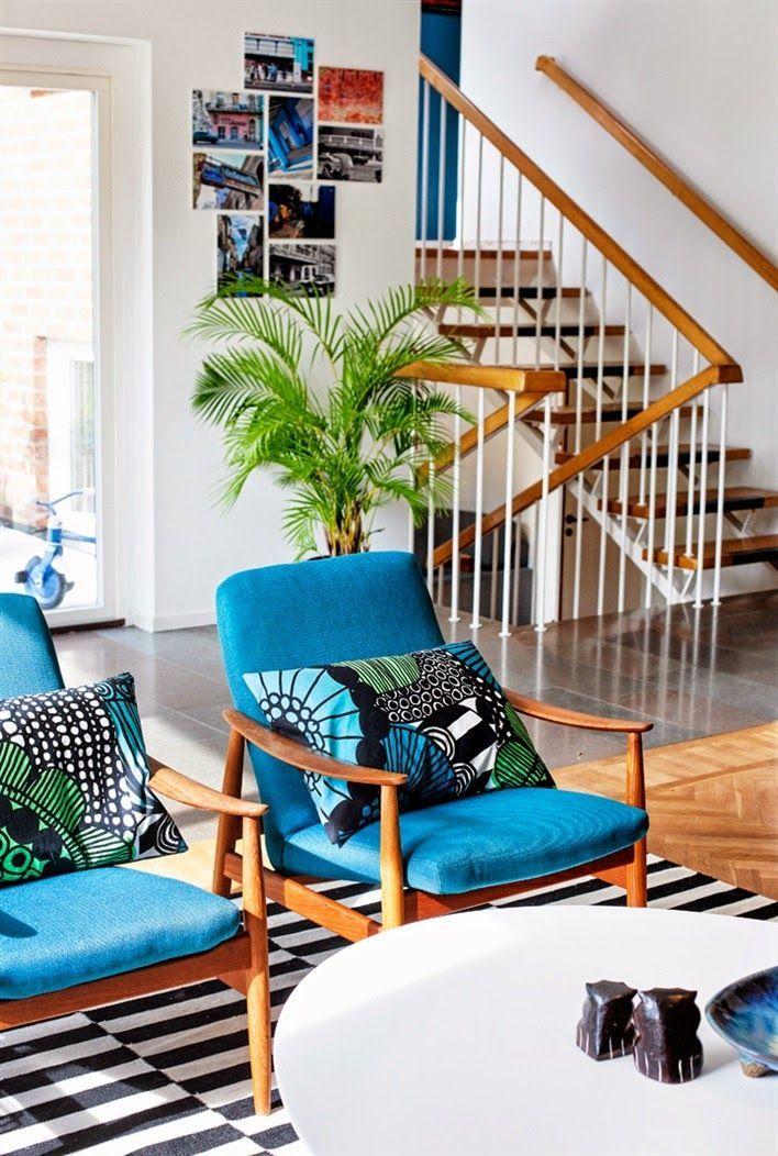pinterest // prickly pear vintage // vintage inspired living room midcentury chairs