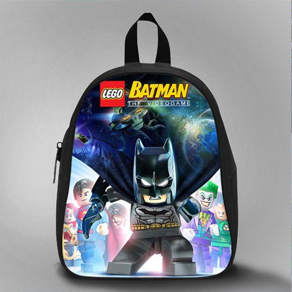 Lego Batman The Video Game, School Bag Kids, Large Size, Medium Size, Small Size, Red, White, Deep Sky Blue, Black, Light Salmon Color