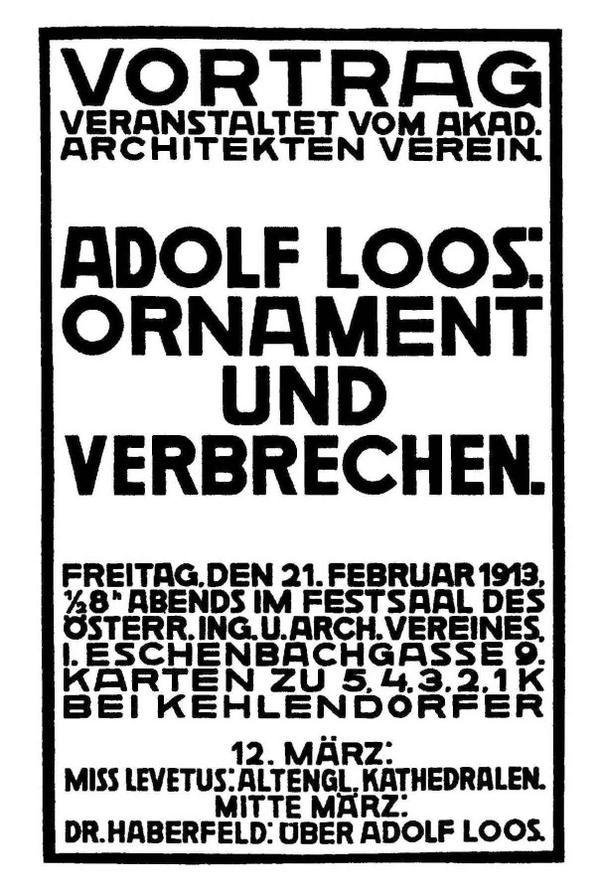 Adolf Loos' absolute classic typography via @IMargolius