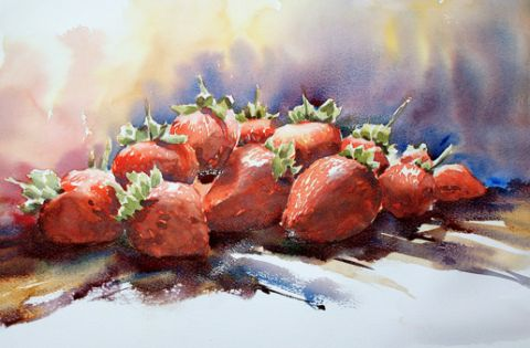 Free Step-by-Step Guide: Painting Strawberries in Watercolour   Art Tutor