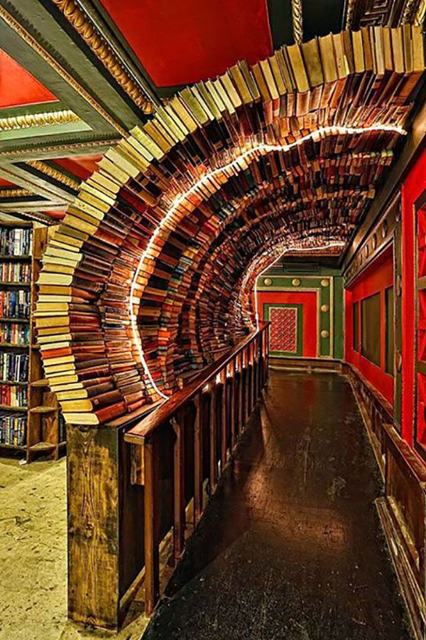 Walked right through this tunnel of books yesterday :) The Last Bookstore, Downtown, Los Angeles. Photo by Omar Bárcena