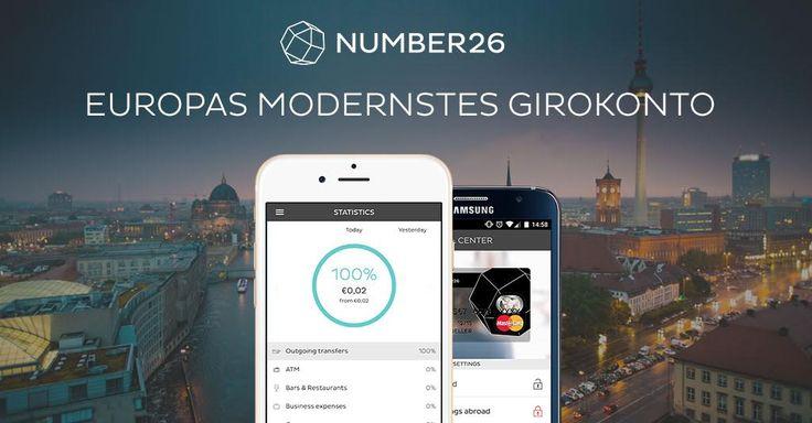 NUMBER26 - Europas modernstes Girokonto Banking wie es heute sein sollte - transparent, sicher und komplett kostenlos. Mit NUMBER26 erhältst du ein Girokonto mit deutscher Einlagensicherung, eine Mastercard, eine innovative Mobile App und ein bequemes Online Banking.