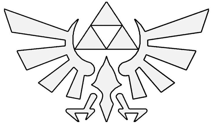 Zelda Hyrule Crest Gt Base For Embroidery Pattern