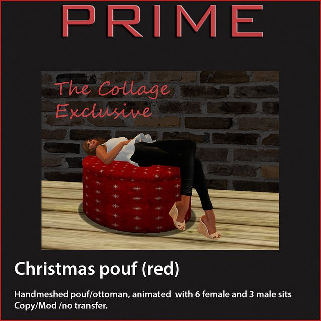 Christmas Pouf Red by PRIME The Collage Exclusive | Flickr - Photo Sharing!