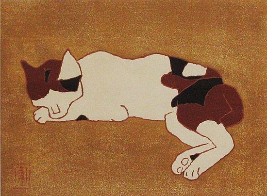 熊谷守一 三毛猫