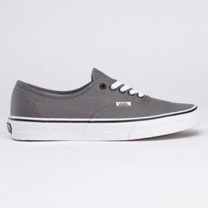 Vans Chaussures Authentique Core Classique Canevas Sneakers Gris - SumTap