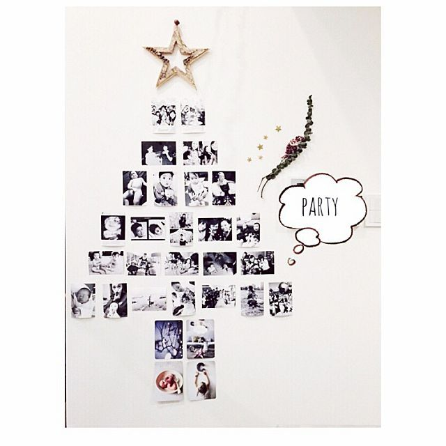 女性で、のクリスマスデコ/クリスマス/おうちカフェ/クリスマスツリー/クリスマスディスプレイ/海外インテリアに憧れる…などについてのインテリア実例を紹介。「明日は仲良しのお友達と我が家でクリスマスパーティ༘♡ 友達との思い出の写真でツリーをつくってみた༘♡ 喜んでくれるかな??༘♡ 」(この写真は 2014-12-06 23:34:04 に共有されました)