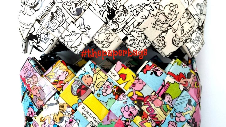 Colorful VS Black 'n White Comic PaperBags .. Somehow we all Fit Together!