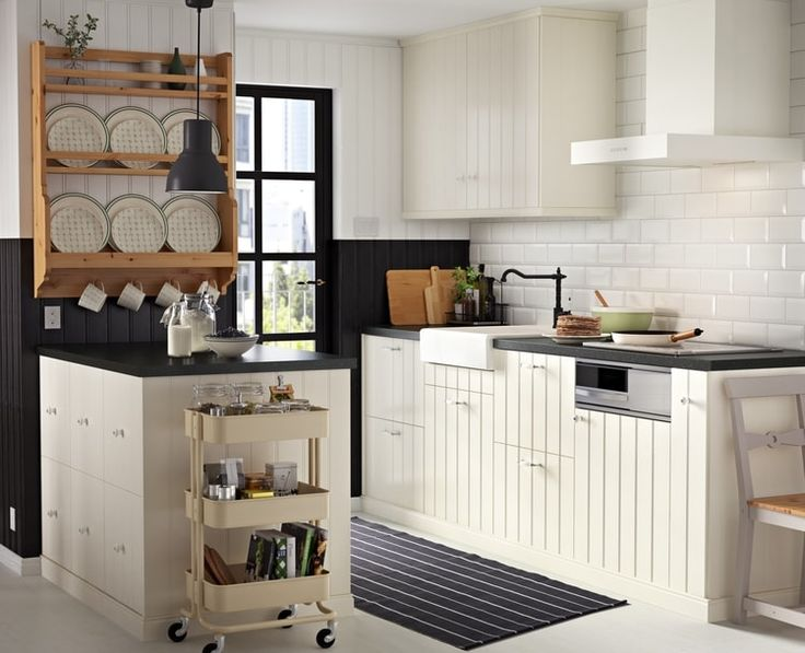 159 best Cuisine images on Pinterest Kitchens, Window dressings - küchen hängeschränke ikea