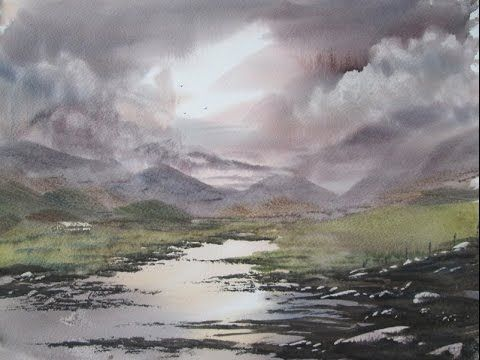How to paint a watercolour landscape from your imagination - YouTube