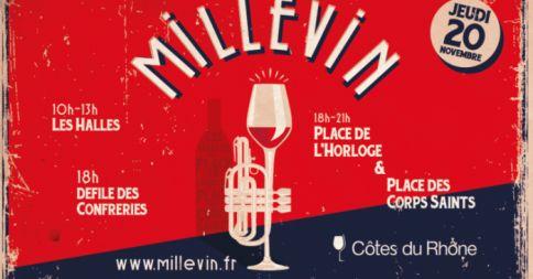 Millévin, Fête des Côtes du Rhône et du Millésime 2014. Le jeudi 20 novembre 2014 à Avignon. Un grand rendez-vous festif partout dans les Côtes du Rhône pour découvrir les vins primeurs et autres millésimes (à consommer avec modération bien entendu). Pour plus d'infos : www.provenceguide.com/fetes-et-manifestations/avignon/millevin---fete-des-cotes-du-rhone-et-du-millesime-2014/provence-FMAPAC084CDT0001330-1.html