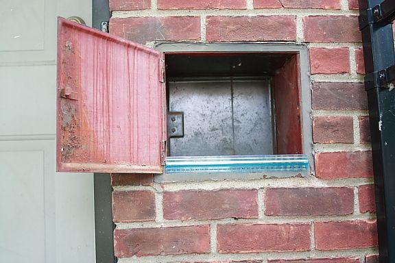 Milk chute - Many suburban houses built prior to 1960 had ...