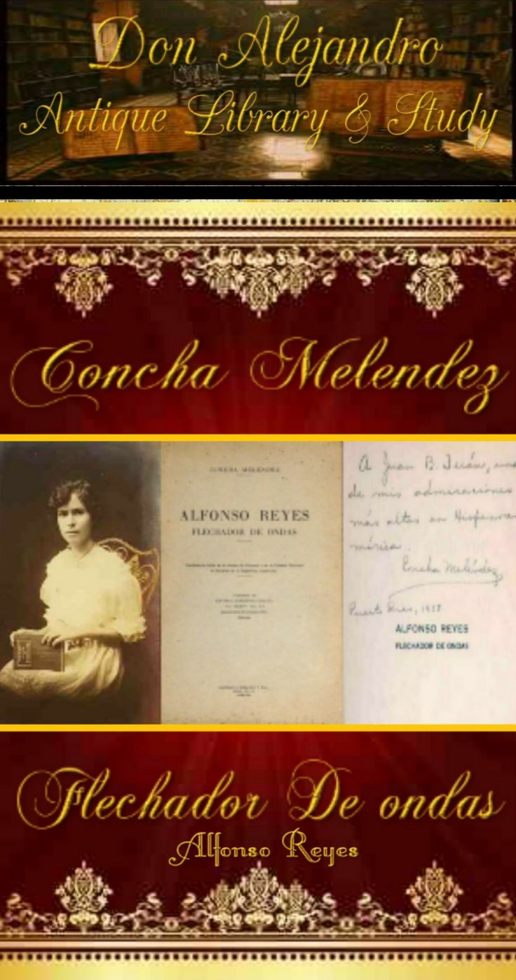 :CONCHA MELENDEZ FLECHADOR DE ONDAS SIGNED DATED 1935 BY CONCHA MELENDEZ PUERTO RICO. APPRAISED $7, 000.00 CONCHA MELENDEZ  1895 /1983 CAQUAS PUERTO RICO. EDU, POET, WRITER , PROF, BA, MS, PHD, MEDAL OF LITERATURE PUERTO RICAN ATENO  AWARD OF HONOR PUERTO RICAN ATENO , DIPLOMA OF HONORS MEXICAN ACADEMY OF LANGUAGES ,ORDER OF ANDRES BELLOY ,FIRST WOMAN IN HISTORY TO EARN A DOCTRINE UNIVERSITY OF MEXICO. HER PASSION INFLUENCED STUDENTS TO BUILD STEPPING STONES INTO BRIDGES AROUND THE WORLD