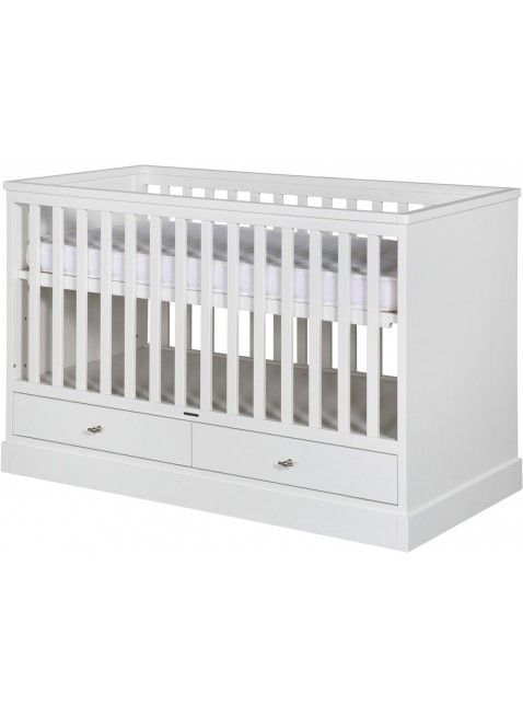 Cooles Kidsmill Babybett Aus Der Serie Newport Mit Schubladen In Größe  70x140 Cm Weiß. Erhältlich