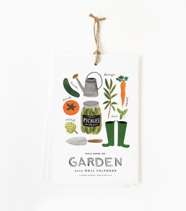 2013 Rifle Calendar - Pickles, wellies and fresh vegetables? This has all of my favorite things. Want! $16
