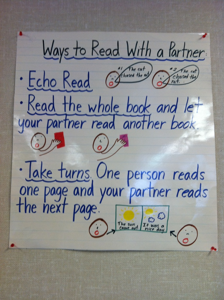 Ways to read with a partner