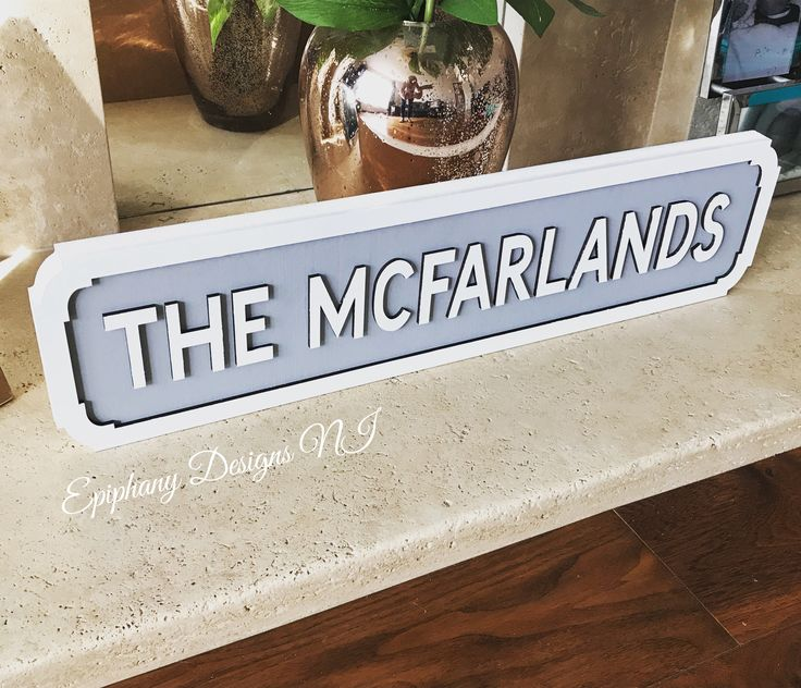 Street sign vintage wooden personalised - hand painted By Epiphany Designs NI