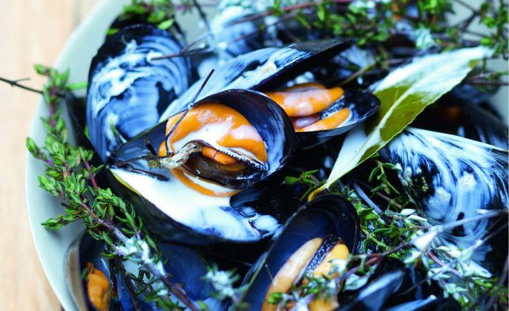Moules au cidre et au thym par Julie Andrieu