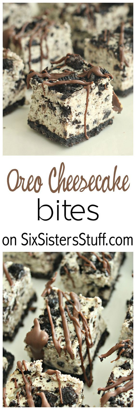 Oreo Cheesecake Bites only on SixSistersStuff