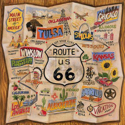 Route66, Karen O'Neil, Buckets Lists, Art Prints, Route 66, Mothers Roads, Roads Trips, 66 Art, Roadtrip