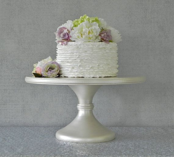 cake stand / 16 inch wedding cake stand / rustic wedding decor / wooden wedding cake stand / vintage inspired wedding decor / pedestal cupcake stand / outdoor wedding decor / bridal shower / cake pop stand / cake pedestal stand / dessert candy bar buffet / beach wedding /16 cake stand cake stand / cake stand / cake plate / ivory pearl wedding decor / ivory wedding PLEASE ALLOW 2 WEEKS BEFORE SHIPPING!!   Classic, ...