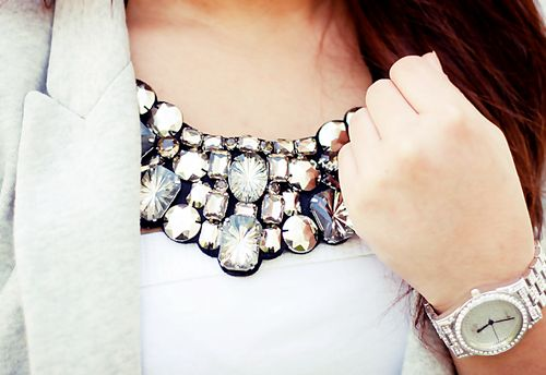 gorgeous necklace: Crystals, Statement Necklaces, Clothing, Accessor, Collars Necklaces, My Style, Bibs Necklaces, Bling Bling, Chunky Necklaces