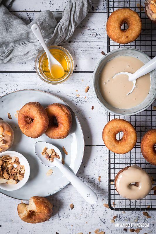 ... caramel honey donuts with honey glazed and roasted almonds ...