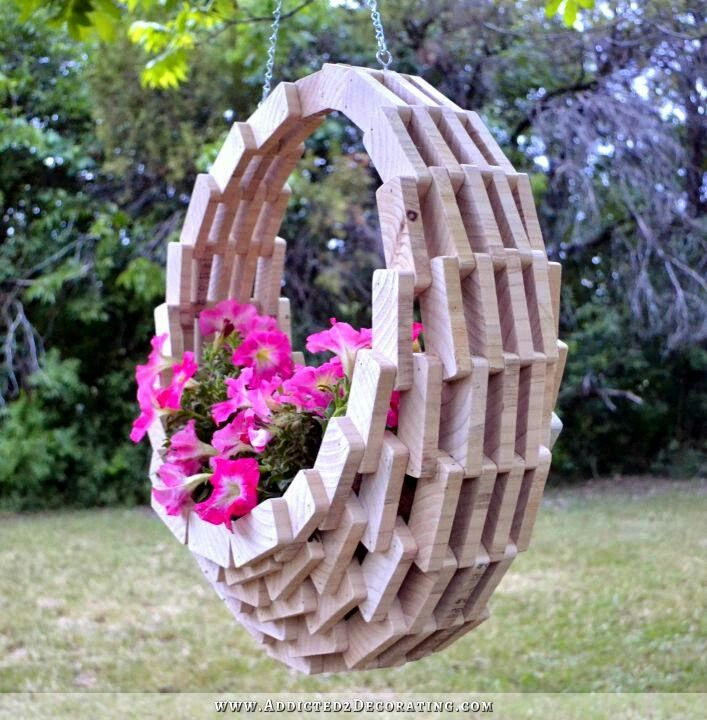 Wood Hanging Planter - Beautiful