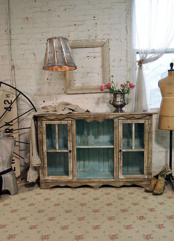 Painted Cottage Handmade Farmhouse Server / Buffet Love Everything About  This!