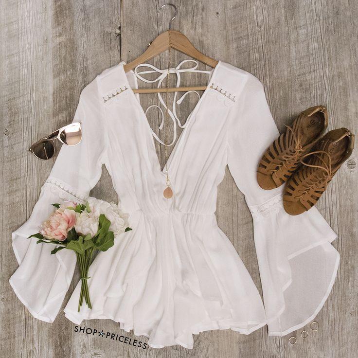 Fleur Romper - White