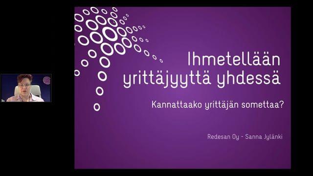 Sanna Jylänki puhelee somesta ja sen merkitysestä yrittäjille.