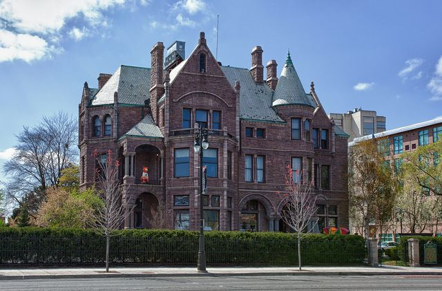 The David Whitney House, One of Detroit's best restaurants. The Tiffany & co stained glass windows are said to be worth more than the house itself