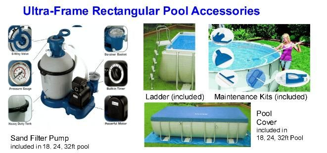 Malaysia Above Ground Rectangular Swim Pool Rectangular Pool Pool Accessories Pool Cover
