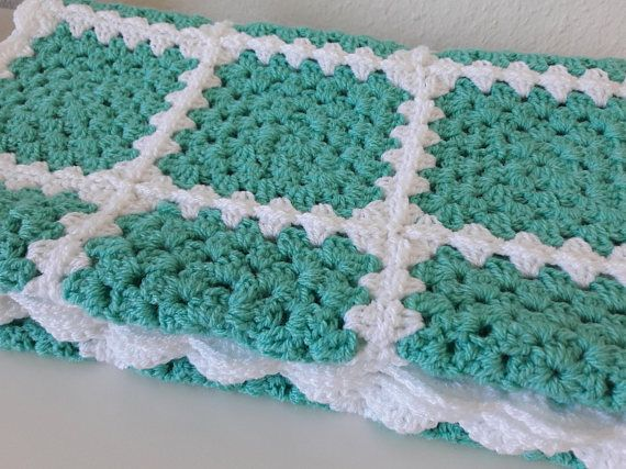 Green Baby Blanket WAS £45 NOW £35. Why not take a look the other baby blankets on sale now in my Phoenix Smiles Etsy store?