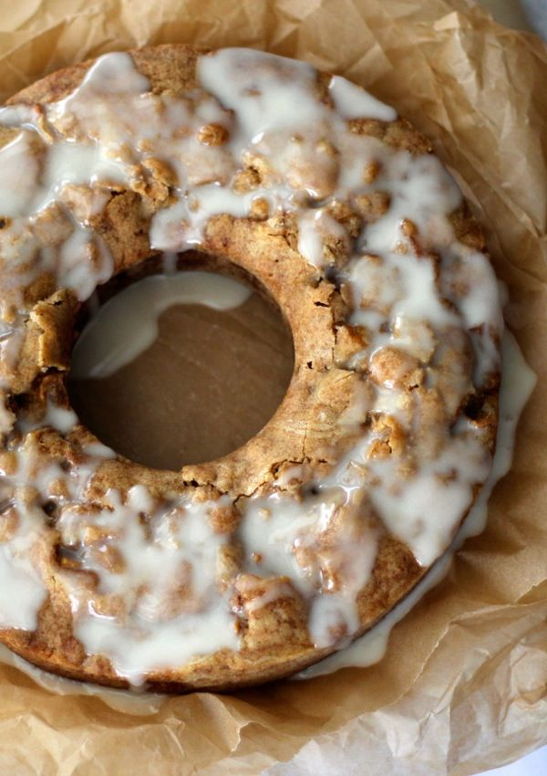 fresh apple cake w/ honey glaze